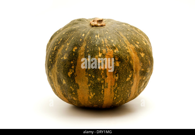 Kabocha squash on a white background - Stock Image