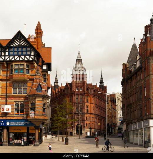 Nottingham City Centre, Nottinghamshire, UK, England - Stock Image