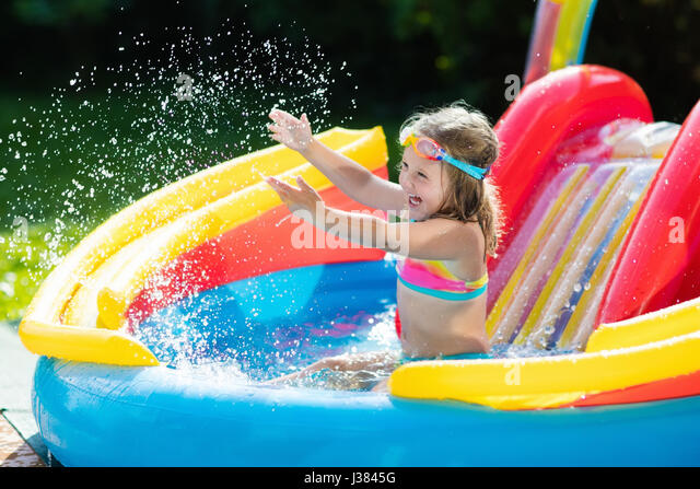 Inflatable Pool Slide Stock Photos Inflatable Pool Slide Stock Images Alamy