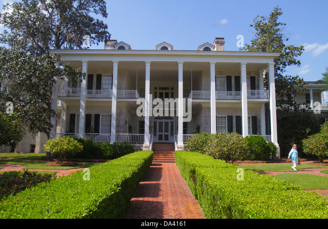 Georgia Thomasville Pebble Hill Plantation sporting country estate Main House garden - Stock Image