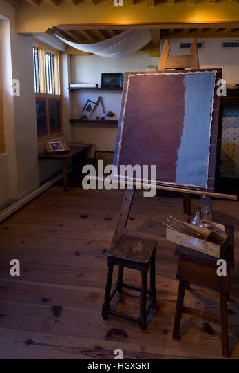 Rembrandt's Studio, Rembrandt House Museum,  Rembrandthuis,  Amsterdam, Netherlands. - Stock Image