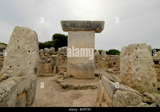 Prehistoric monument at Torralba d´en Salor, Minorca, Balearic Islands, Spain - Stock Image