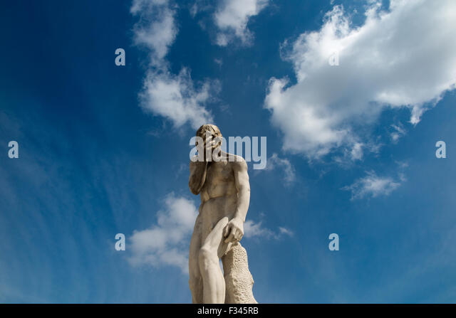 statue in the Jardin des Tuileries, Paris, France - Stock Image