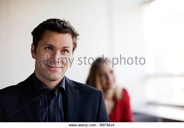 Persons listening to their interlocutor - Stock Image