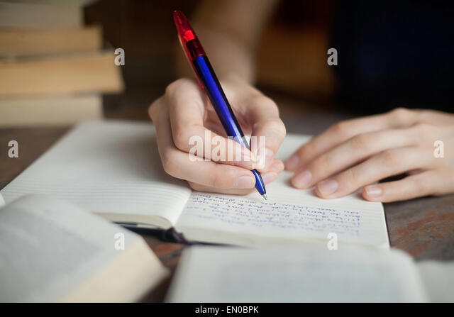 preparation for exam - Stock Image