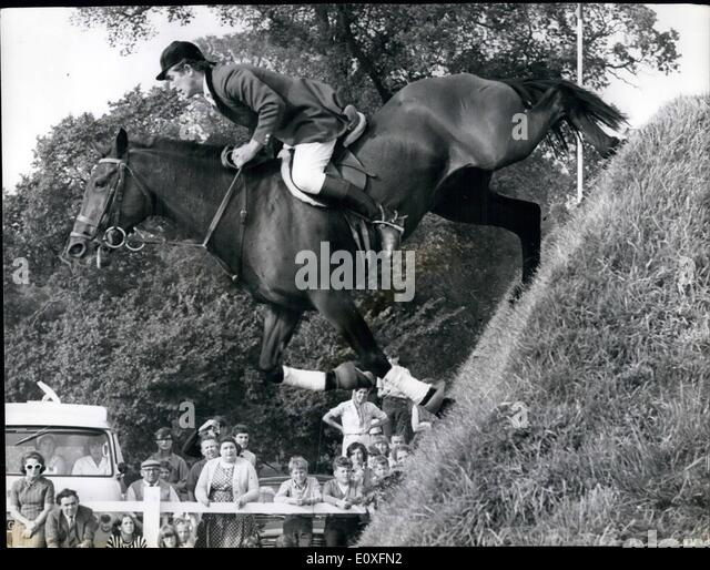 Sep. 09, 1966 - British Jumping Derby. The classic Show Jumping Derby was held yesterday at Hickstead, Sussex. It - Stock Image