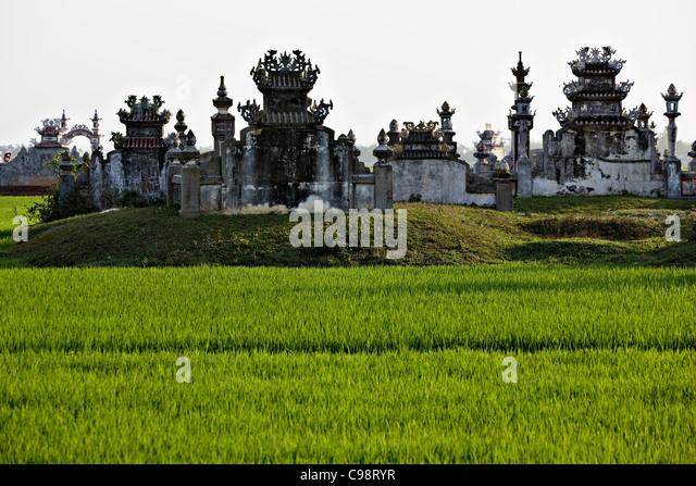 Buddhist graveyard Hue, Vietnam - Stock Image
