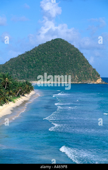 British Virgin Islands  Long Bay - Stock Image