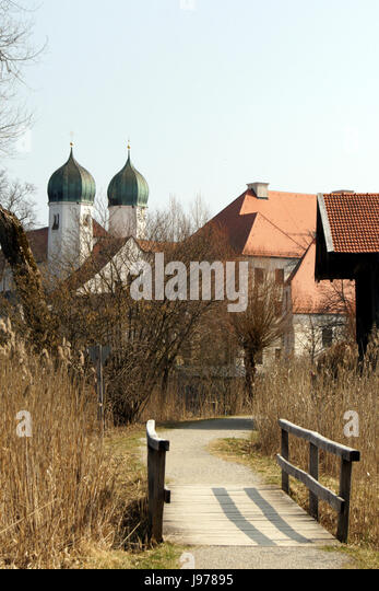 kloster seeon,bavaria,near chiemsee - Stock Image