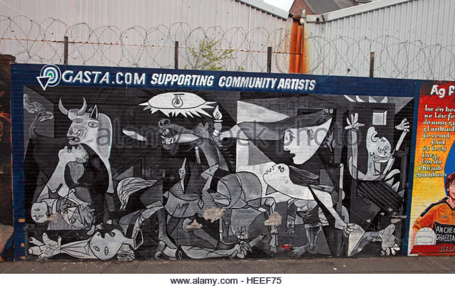 Belfast Falls Rd Republican Mural- Gasta.Com Community Artists - Stock Image