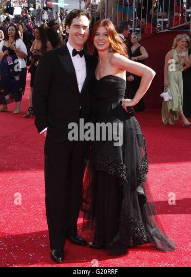 MAVRIXPHOTO.COM Debra Messing at the 60th Primetime Emmy Awards held at the Nokia Theater in Los Angeles, California, - Stock-Bilder