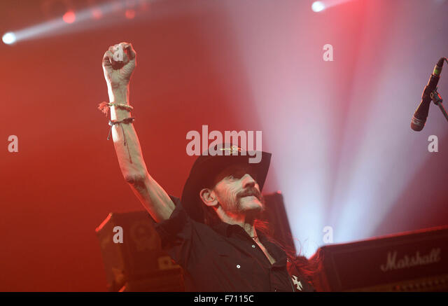 Munich, Germany. 20th Nov, 2015. Lemmy Kilmister, lead singer of the British heavy metal band Motörhead, performs - Stock Image