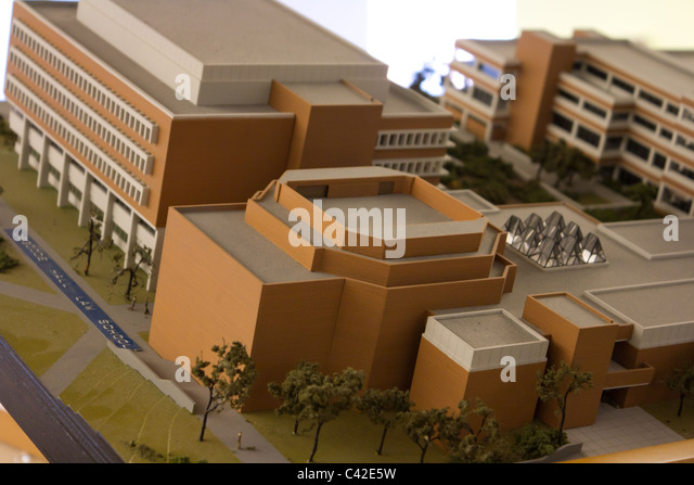 architecture model closeup - Stock Image