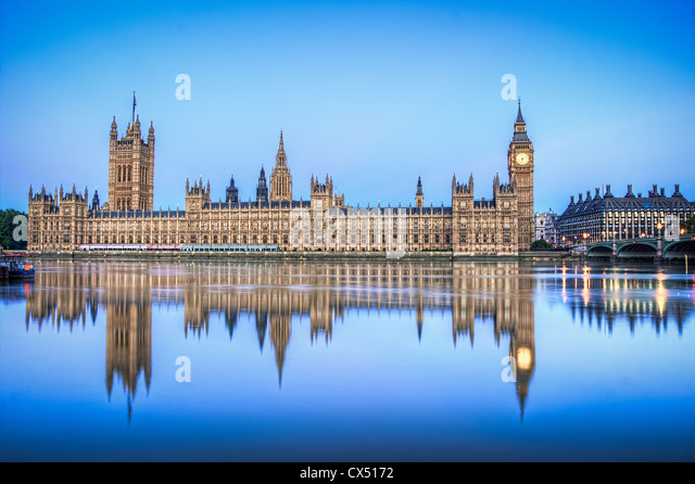 The Houses of Parliament HDR - Stock Image