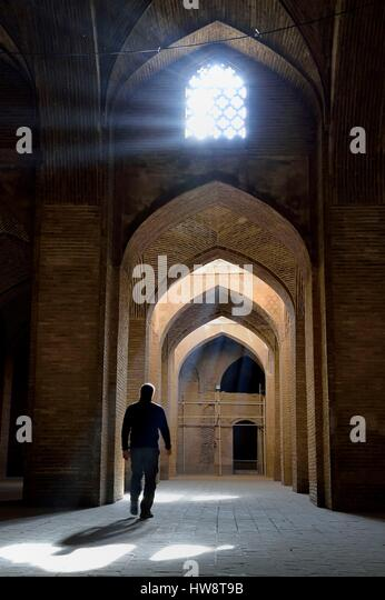 Iran, Isfahan Province, Isfahan, Jame Mosque, south-eastern shabestan - Stock Image