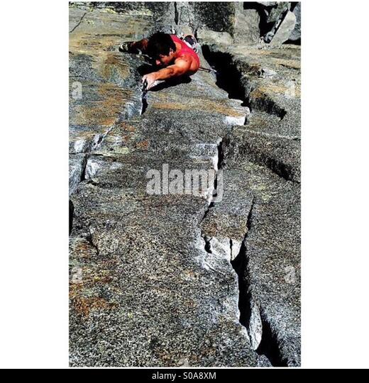 Lake Tahoe trad climbing - Stock-Bilder
