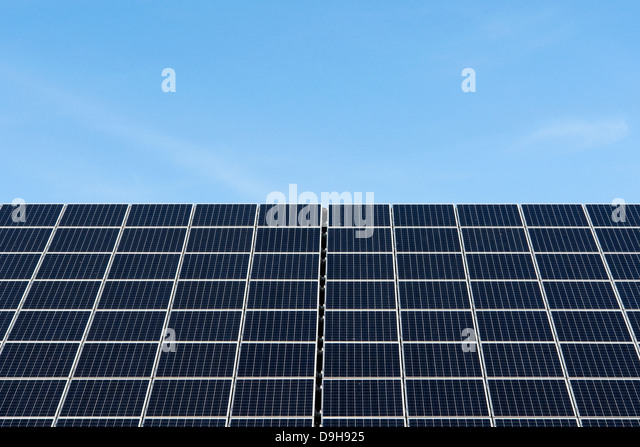 Solar cells, Solar cells, - Stock Image