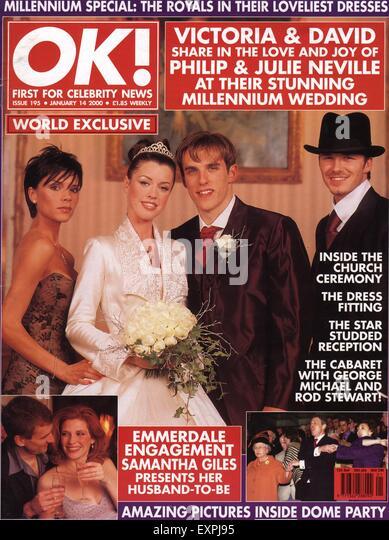 1990s UK OK! Magazine Cover - Stock Image