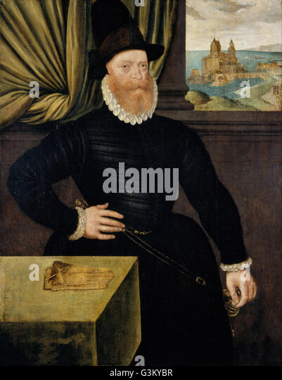 Attributed to Arnold Bronckorst - James Douglas, 4th Earl of Morton, about 1516 - 1581 - Stock Image
