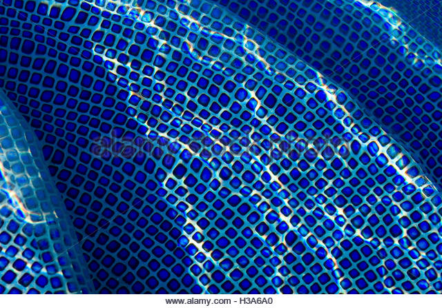pool tiles and water texture - Stock Image