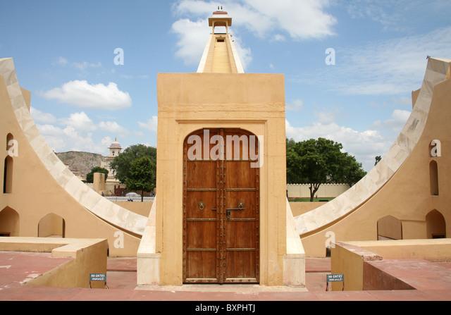 The Brihat Samrat Yantra at Janar Mantar observatory Jaipur, Rajasthan, India - Stock-Bilder