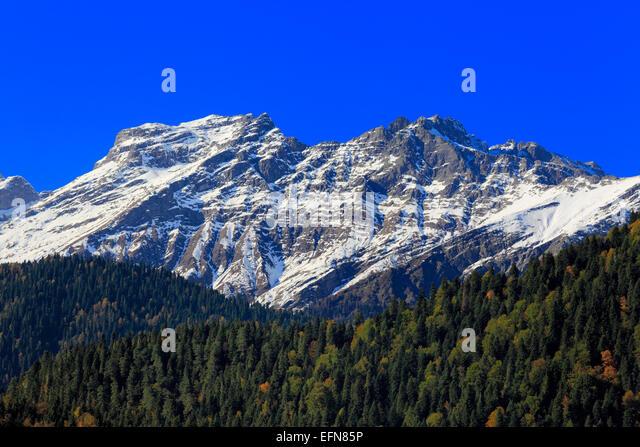 Caucasus mountains, Abkhazia, Georgia - Stock Image