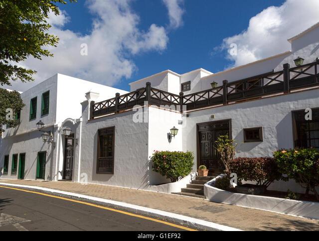 Historic house Yaiza, Lanzarote, Canary Islands, Spain - Stock-Bilder
