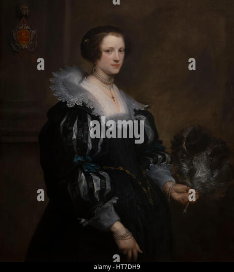 Portrait of Anna Wake, by Anthony van Dyck, 1628, Royal Art Gallery, Mauritshuis Museum, The Hague, Netherlands, - Stock Image