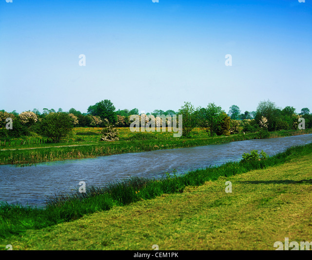 Grand Canal At Daingean, Co Offaly, Ireland - Stock Image