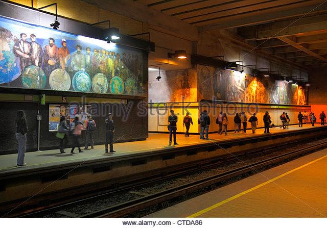 Mexico Mexico City DF D.F. Ciudad de México Federal District Distrito Federal Mexico City Metro subway Copilco - Stock Image