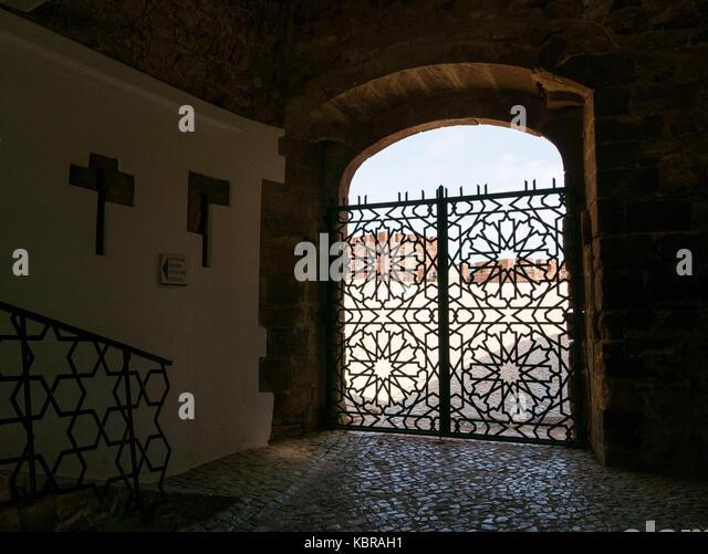 Silves Castle in Algarve, Portugal - Stock Image