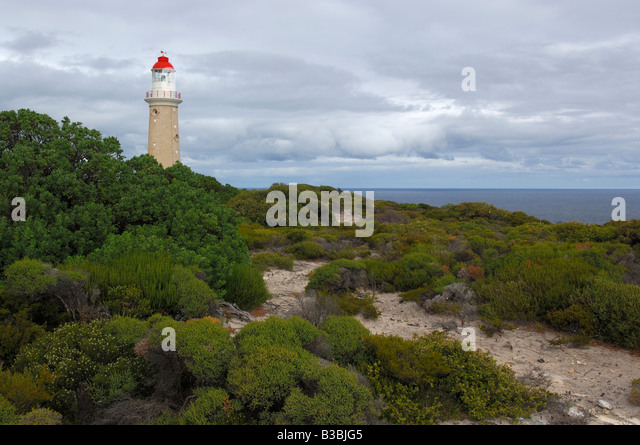 Cape Borda Lighthouse Kangaroo Island Flinders Chase National Park Australia - Stock Image