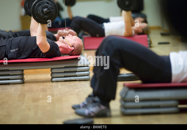 People training in health center - Stock Image