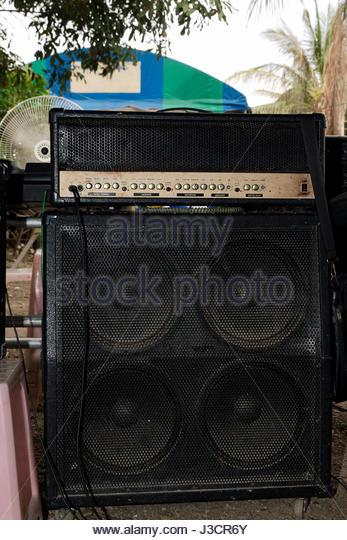 amplifier speaker bass equalizer equipment - Stock-Bilder