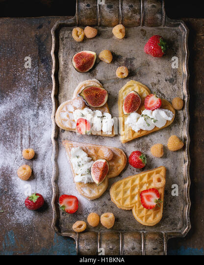 Wafers with berries - Stock Image