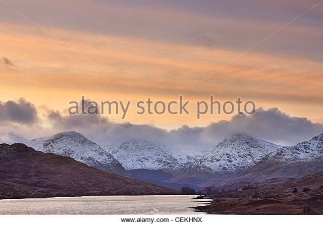 Loch Arklet and The Arrochar Alps, Loch Lomond and The Trossachs National Park, Stirling District, Scotland, UK - Stock-Bilder