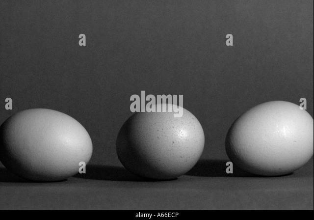 Three Eggs - Stock Image