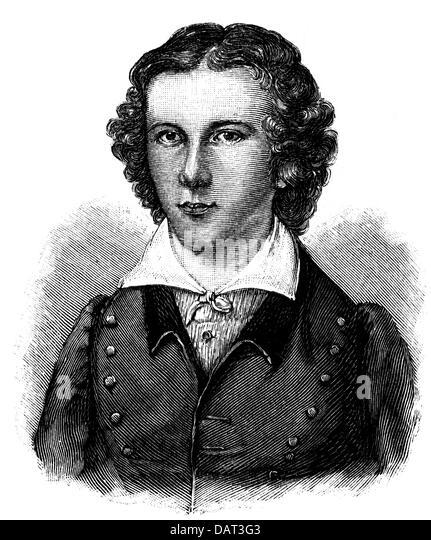 Scheidler, Karl Hermann, 1795 - 1866, German lawyer, philosophy professor, portrait, as student of the fraternity - Stock Image