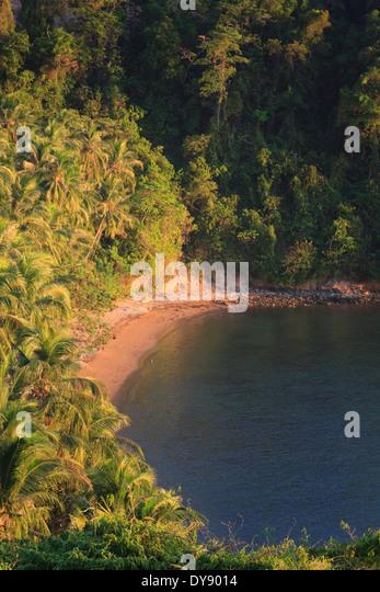 Philippines, Palawan, El Nido, Bay, Marimegmeg Beach - Stock Image