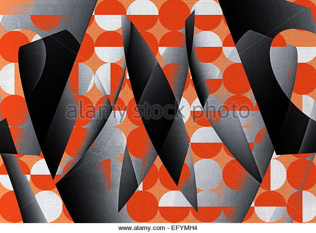 Abstract geometric shape design - Stock-Bilder