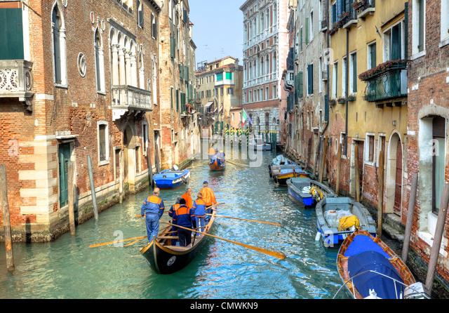 Voga Veneta, rowing club, Dorsoduro, Venice, Veneto, Italy - Stock Image