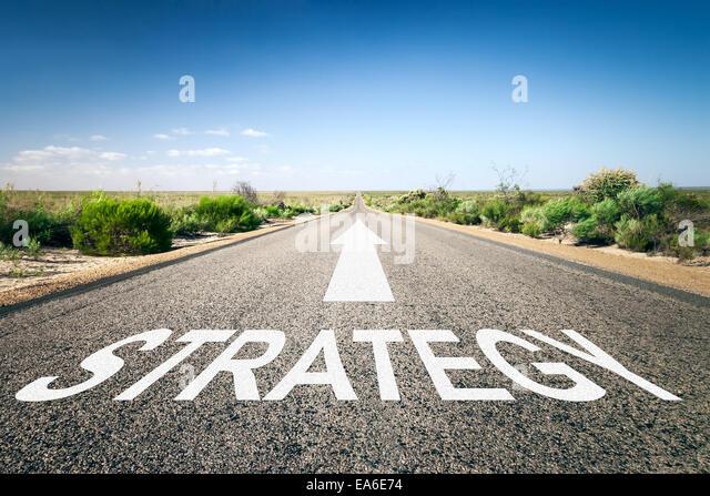 road to horizon - Stock Image