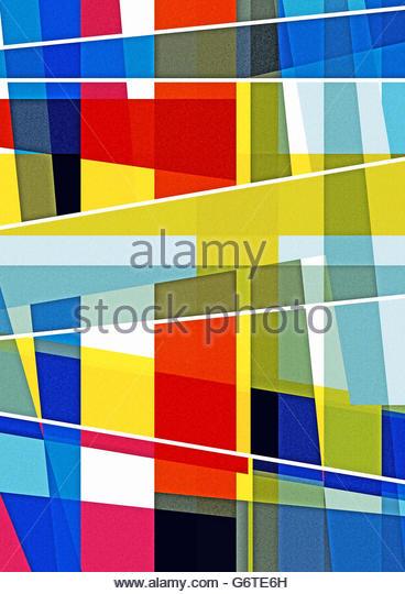 retro abstract geometric fifties style design - Stock Image