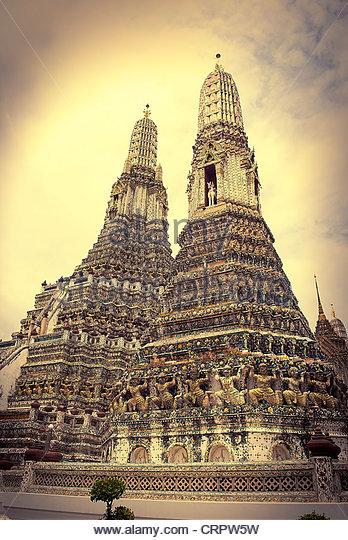 Wat Arun, Temple of Dawn, Bangkok - Stock-Bilder