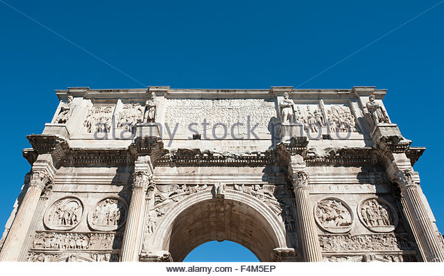 Rome Italy Arch of Constantine ( Arco di Costantino) - Stock Image