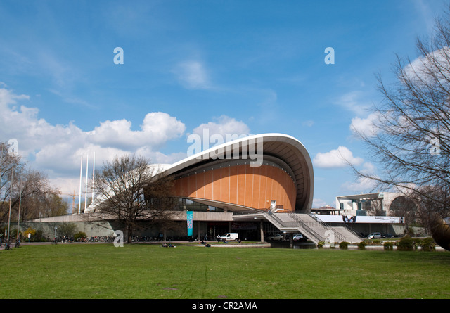House of the Cultures of the World in Berlin Germany - Stock-Bilder