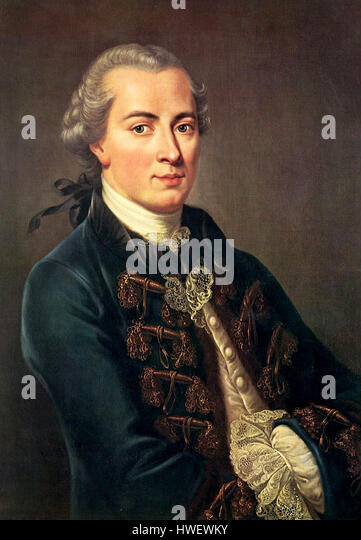 Immanuel Kant, German philosopher - Stock-Bilder