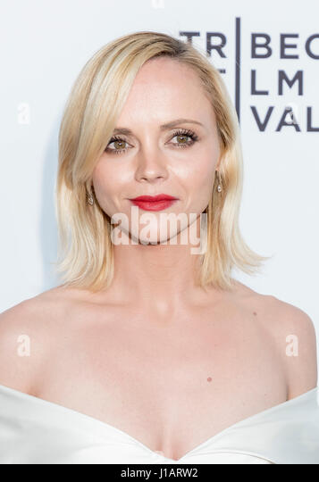 New York, USA. 19th Apr, 2017. Actress Christina Ricci attends the 2017 Tribeca Film Festival - 'Clive Davis: - Stock Image