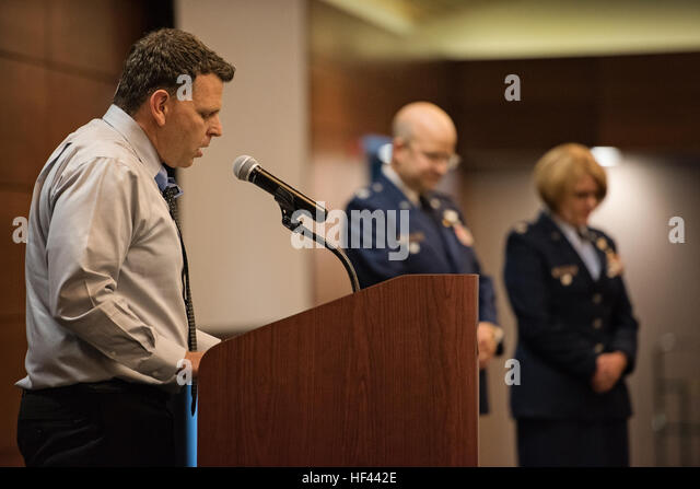 Col. Patty Wilbanks retired from the Alaska Air National Guard at a ceremony on Joint Base Elmendorf-Richardson, - Stock Image