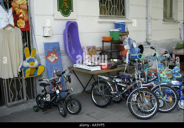 Bicycles for sale on the streets of Sukhumi (Abkhazia) - Stock Image